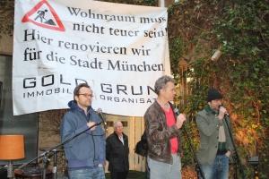 Grisi Ganzer, Alex Rühle und Till Hofmann von Goldgrund